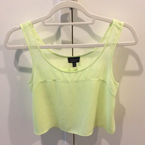 24a83e3e6db Topshop Tops | Neon Green Top | Poshmark